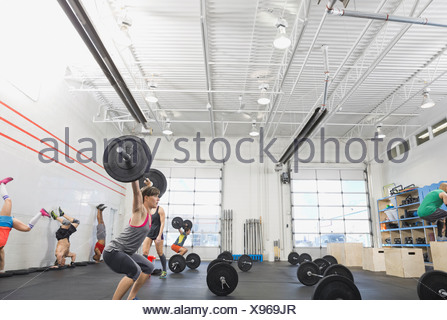 Group of people in Crossfit class - Stock Photo