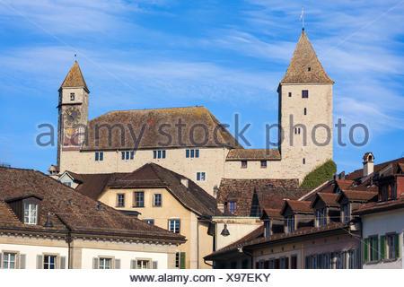 Rapperswil, Switzerland, Europe, canton St. Gallen, castle, - Stock Photo