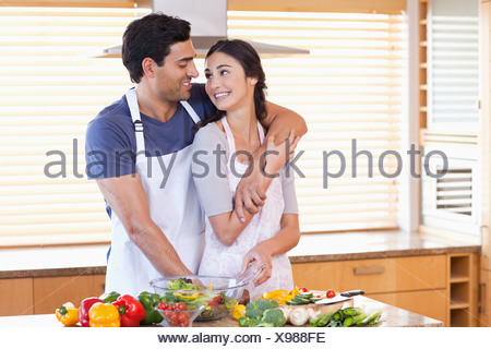 Lovely young couple posing - Stock Photo
