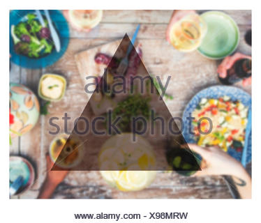 Summer Togetherness Friendship Triangle Copy Space Concept - Stock Photo