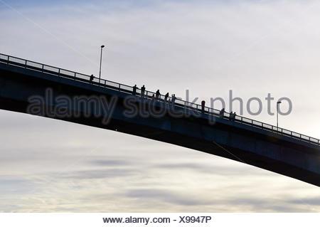 Bridge over the Stokksund, Norway - Stock Photo