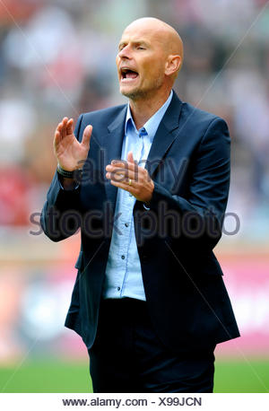 Stale Solbakken, manager of FC Cologne during football test match between FC Cologne 1-2 Arsenal, Rhein-Energie-Stadion, Cologne - Stock Photo
