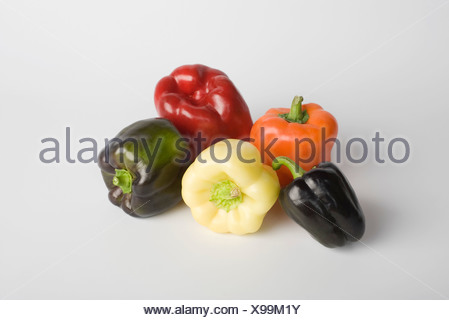 Assorted bell peppers - Stock Photo