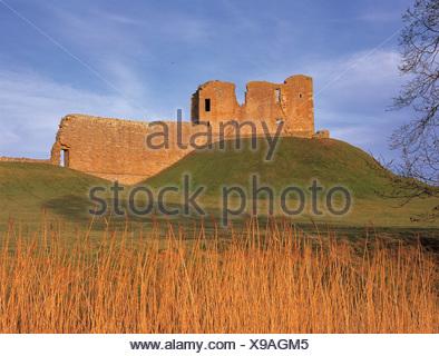 Duffus Castle - Stock Photo