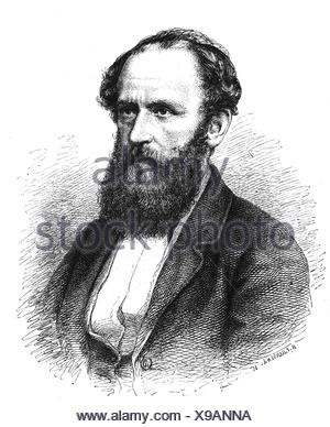 Bucher, Lothar, 25.10.1817 - 12.10.1892, German civil servant, politician and journalist, reporting counsel in the Foreign Ministry 1871 - 1886, portrait, wood engraving after drawing by H. P. Hansen, 1874, Artist's Copyright has not to be cleared - Stock Photo