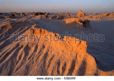 'Walls of China, ' sandstone formations, Mungo National Park, New South Wales, Australia, Oceania - Stock Photo