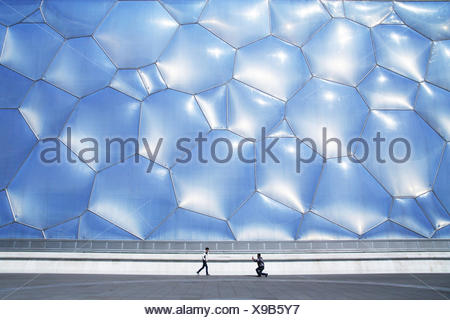 The National Aquatics Center, or Water Cube, in Beijing. - Stock Photo