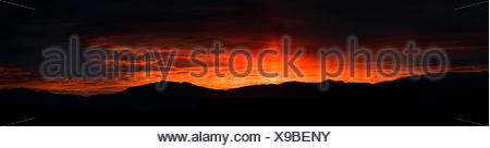 Sunrise from The Pit campground in Bishop, Calif. - Stock Photo