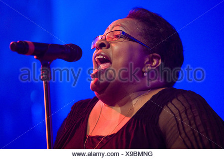 Jocelyn Brown of the British band The Allstars feat. Jocelyn Brown Live at the Blue Balls Festival in the Luzernersaal hall of - Stock Photo