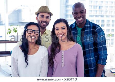 Portrait of multi ethnic business people - Stock Photo
