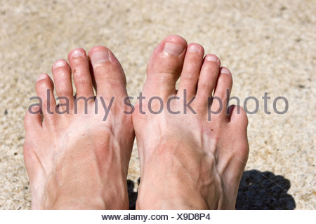 344bc4fc0bc89 Tan lines after wearing flip flops an entire summer. MR - Stock Photo