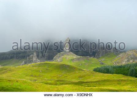 Old Man of Storr, Isle of Skye, Scotland, Great Britain, Europe - Stock Photo