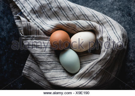 Various colored eggs