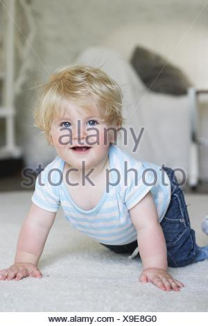 10 month old baby. - Stock Photo