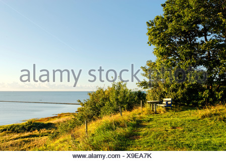 Beach near Als at the Kattegat, Jutland, Denmark, Europe - Stock Photo