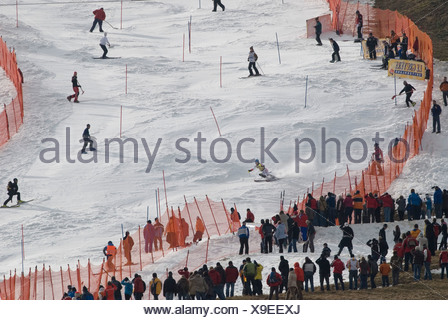 Benjamin Raich, Austria, FIS Ski Worldcup, Slalom men, Kandahar race, Garmisch-Partenkirchen, Bavaria, Germany - Stock Photo