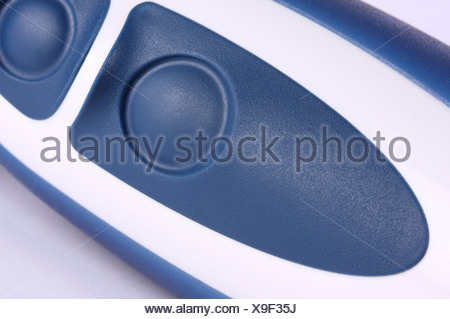 Handle of a kitchen blender with blue buttons Stock Photo: 16734701 ...