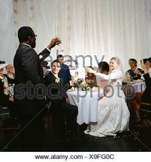 Best man makes a speech - Stock Photo