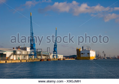 Docks, Southampton, Hampshire, England, United Kingdom, Europe - Stock Photo