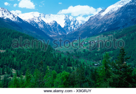 Valley near Sestriere - Stock Photo