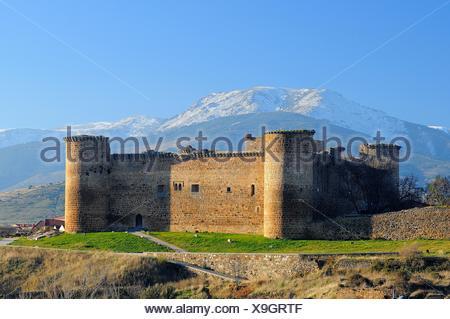 Castle of Valdecorneja.14th century.Barco de Ávila.Ávila province.Castilla y León.Spain - Stock Photo
