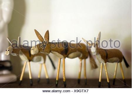 Three ornamental donkeys - Stock Photo