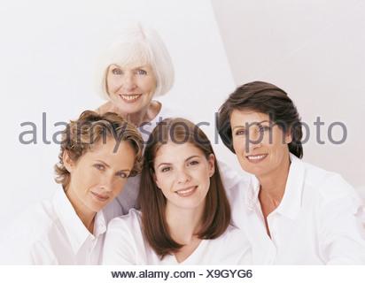 Portrait of four female family members - Stock Photo
