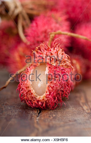 fresh rambutan fruits - Stock Photo