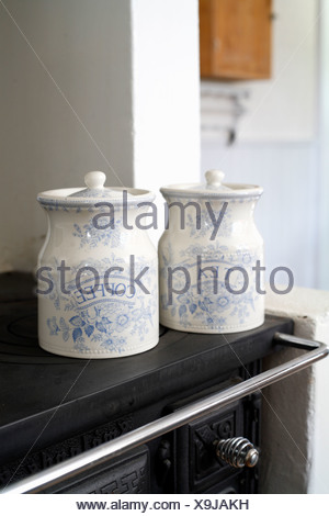 Tee pot and coffee pot Sweden - Stock Photo