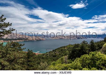 Bucht von Baska, Insel Krk, Kroatien - Stock Photo
