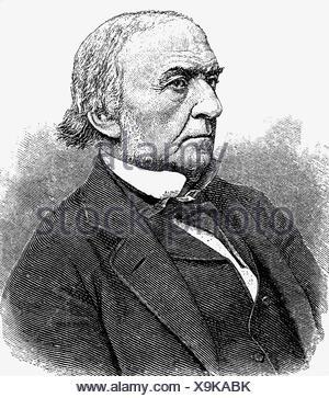Gladstone, William Eward, 29.12.1809 - 19.5.1898, British politician (Lib.), Prime Minister 23.4.1800 - 9.6.1885, portrait,  wood engraving, 1884, , Additional-Rights-Clearances-NA - Stock Photo