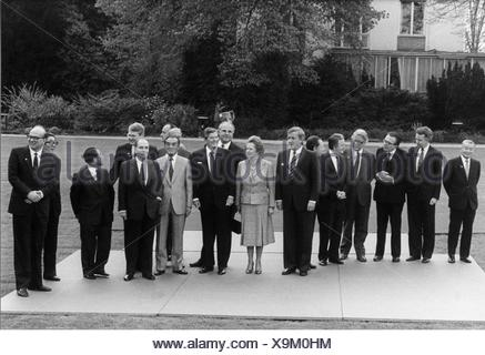 politics, conferences, G7 summit, Bonn, West Germany, 2.- 4.5.1985, Additional-Rights-Clearences-NA - Stock Photo