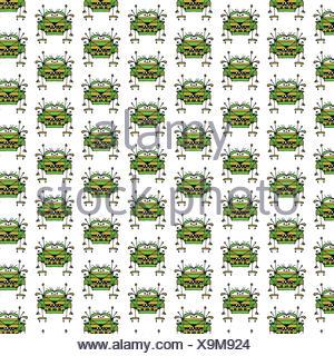 Worried Robot Character Illustration Pattern - Stock Photo