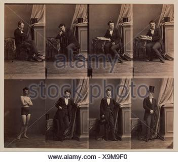Prince Lobkowitz. Artist: André-Adolphe-Eugène Disdéri (French, Paris 1819-1889 Paris); Date: 1858; Medium: Albumen silver print from glass negative; - Stock Photo