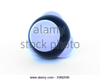 Molecular structure of methane computer artwork. - Stock Photo