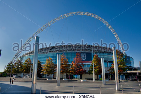 Europe, UK, England, London, Wembley Stadium, sports, football, arena, 2010, modern, Olympic, new - Stock Photo