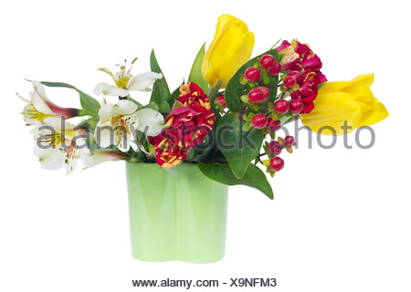 minimalistic  floral composition - Stock Photo