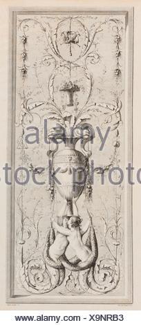 Recueil d'Ornemens A l'Usage des Jeunes Artistes qui se destinent à la décoration des bâtimens. Artist and publisher: Gilles Paul Cauvet (French, Aix - Stock Photo