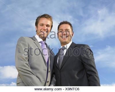 Bridegroom and best man - Stock Photo