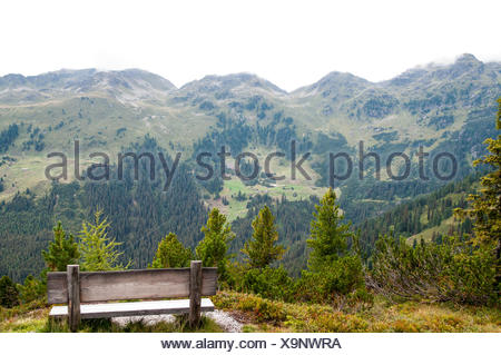 Isskogel mountain peak near Gerlos, Tyrol, Austria - Stock Photo