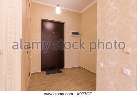 Interior hallway small apartment unfurnished - Stock Photo