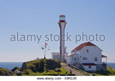 Cape Forchu Lighthouse, Yarmouth Harbour, cape Forchu, Nova Scotia, Canada, - Stock Photo