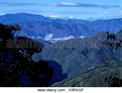 Himalayan View From The Ridge, Simla, Himachel Pradesh, India - Stock Photo