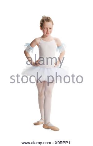 Young ballet dancer wearing a tutu - Stock Photo
