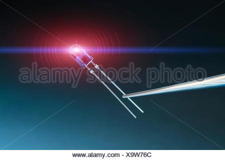 Light emitting diode. - Stock Photo
