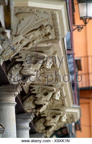 Zocodover Square, Toledo, Castilla La Mancha, Spain - Stock Photo
