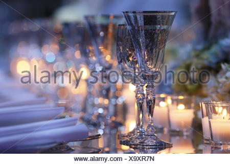 Table for the Royal Family, Salle des Etoiles, Gala Monaco Against Autism, Sporting Monte-Carlo, Principality of Monaco - Stock Photo