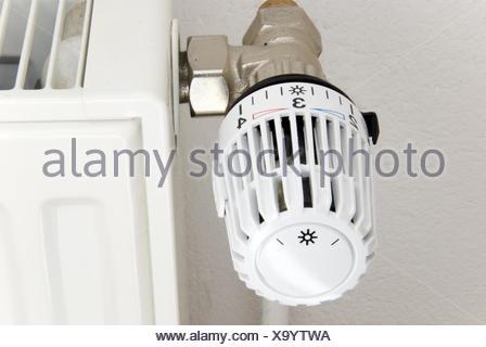 thermostat radiator - Stock Photo