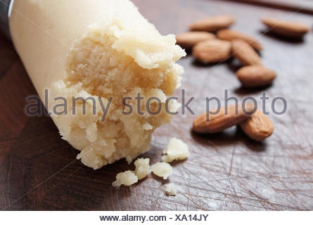 marzipan,almond,raw marzipan - Stock Photo