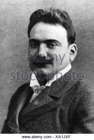 Caruso, Enrico, 25.2.1873 - 2.8.1921, Italian opera singer (tenor), portrait, after photography, 1904, , Additional-Rights-Clearances-NA - Stock Photo